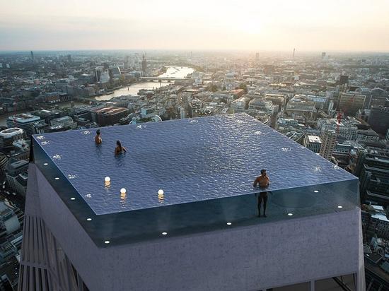 Piscine à débordement à 360 degrés de Londres