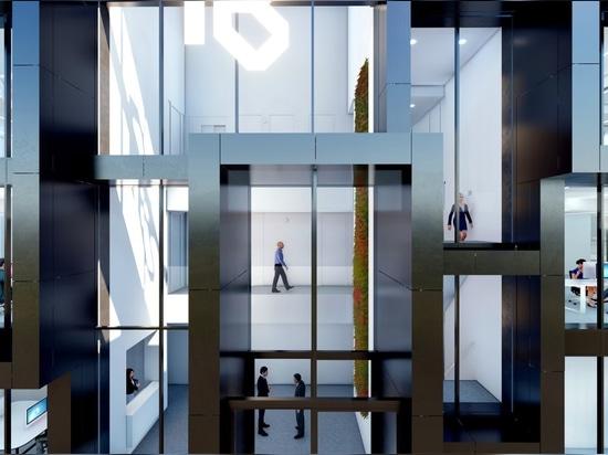 Immeuble de bureaux emblématique à Maasdijk par MoederscheimMoonen Architects