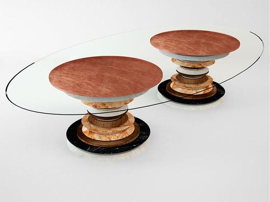 Table de repas en agate