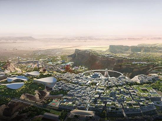 bjarke ingels les plans directeurs du groupe'qiddiya', l'immense capitale du divertissement de l'arabie saoudite