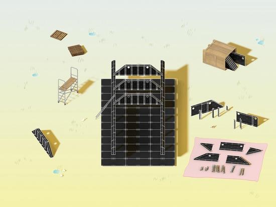MOS Studio conçoit un pavillon pédagogique semi-permanent à Versaille