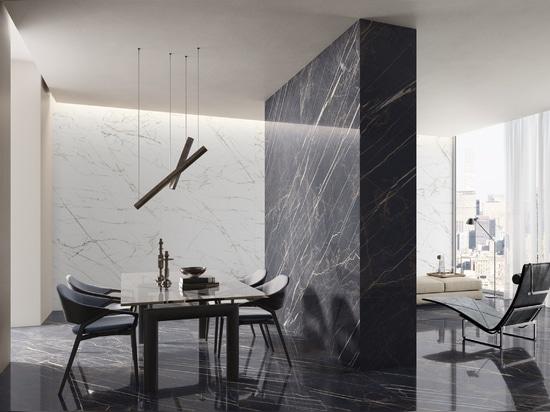Marmoker : les précieux chromatismes des marbres d'extraction associés aux performances du grès cérame