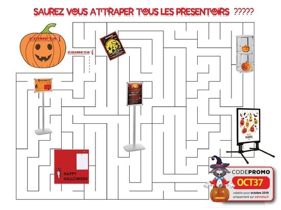 Pour Halloween, saurez-vous attraper tous les présentoirs ??!!!
