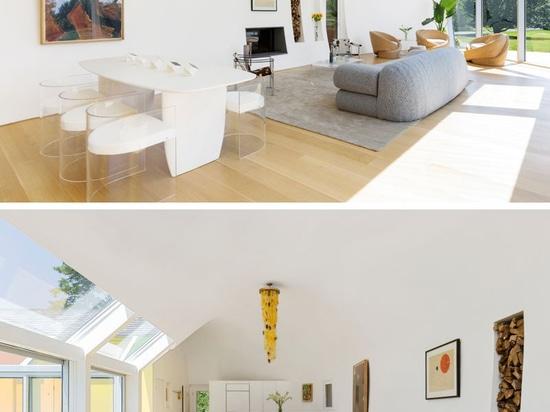 Lanterneaux colorés et un design curviligne sont les caractéristiques de la Maison Cocoon