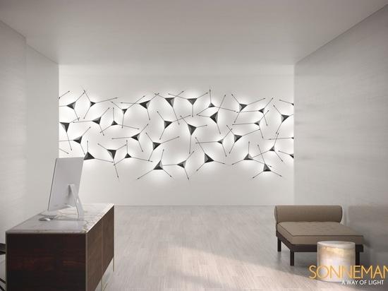 Idées d'éclairage - Cette applique moderne fait double emploi avec l'art mural