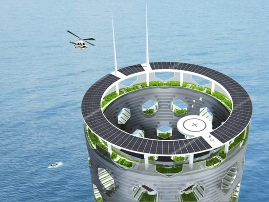 Luca Curci Architects propose une Ville Verticale autonome et durable du futur