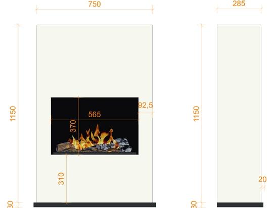 bergamo Torretta [cheminée électrique / éthanol sur pied ou murale]