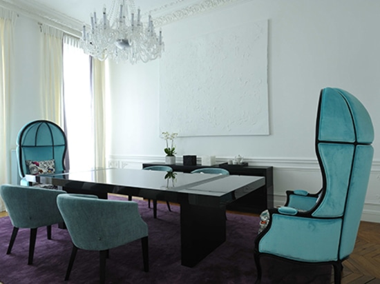 Appartement Art Chic à Paris conçu par PFB Design et meublé par BRABBU