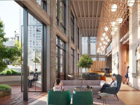 Le projet de briques recyclées de Crone remporte le concours de la tour d'hôtel