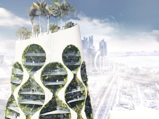Les architectes imaginent un gratte-ciel vert alimenté par l'énergie solaire