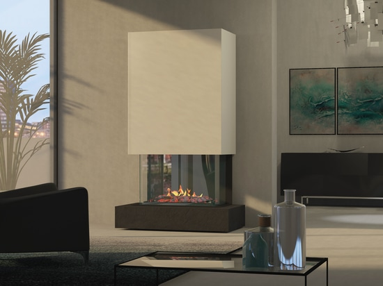 muenkel design Torino [cheminée électrique Opti-myst]