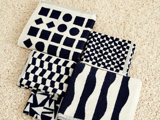 Dusen Dusen présente sa collection de serviettes en noir et blanc
