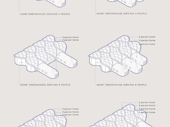Eliza Hague conçoit des serres gonflables en bambou et en gomme-laque qui ressemblent à des origami