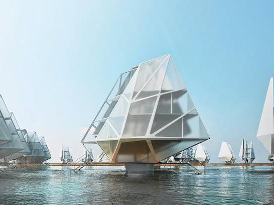 Le Dada envisage des unités d'habitation flottantes modulaires pour les communautés côtières du monde entier