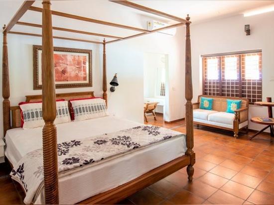 Cette villa en bord de rivière au Kerala est pavée de notre Rodamanto classique