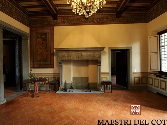 Terre cuite pour le sol '' Rosso Firenze