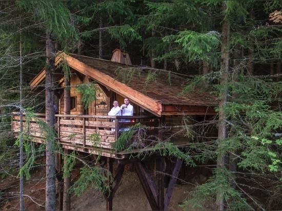 Cabane Mont-Blanc (la cabane dans les arbres la plus traditionnelle).
