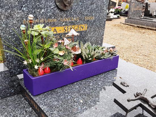 IMAGE'IN Pots durables et personnalisées pour décorer les tombes