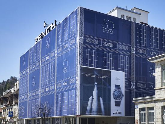 Le Zénith a fait appel à LightAir pour habiller sa façade (2019). Avec l'aimable autorisation de LightAir.