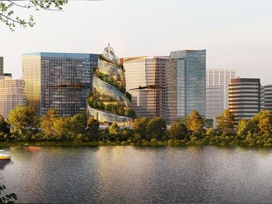 Amazon dévoile l'hélice conçue par le NBBJ pour son siège d'Arlington, en Virginie