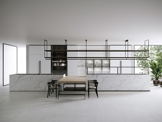 Le dernier système de cuisine et de salle à manger de Boffi, appelé Combine, a été conçu par Pierro Lissoni.