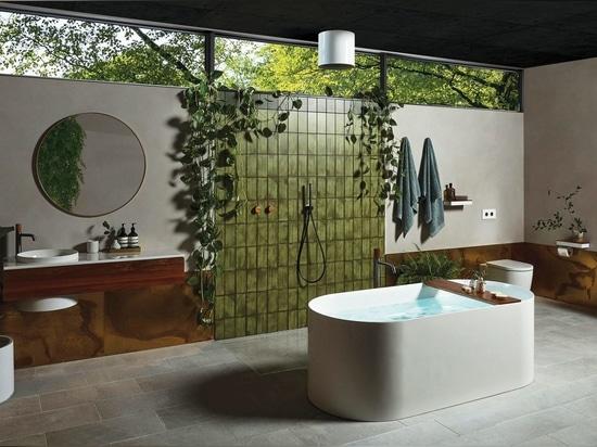 La collection de salles de bains Elvire, qui a remporté le prix d'or lors des récents Good Design Awards en Australie en 2020.
