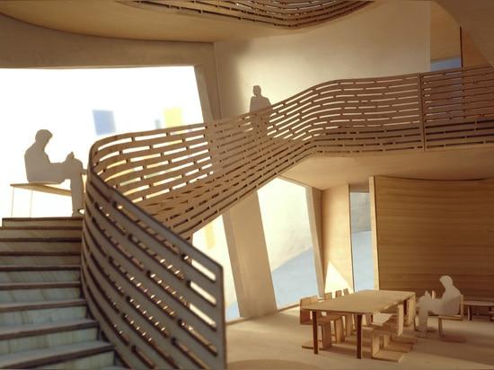 Architectes de Steven Holl, Maggie ? centre Barts, Londres de s. Vue du rez-de-chaussée à la chapelle