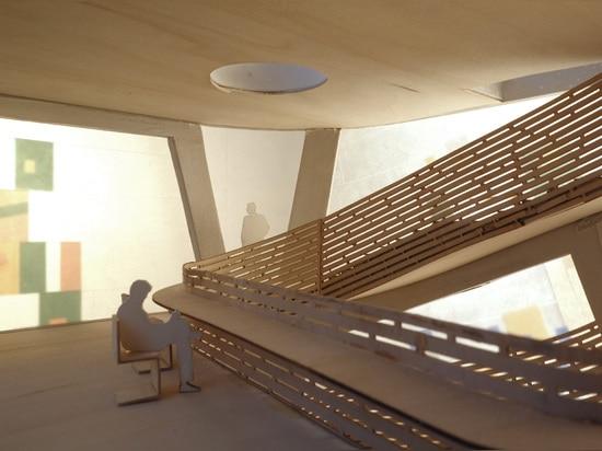 Architectes de Steven Holl, Maggie ? centre Barts, Londres de s. Vue de la chapelle au premier étage