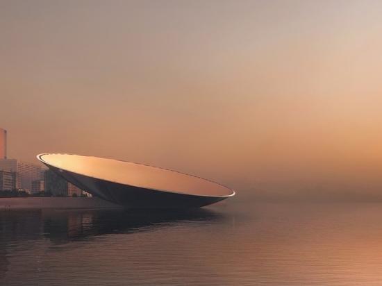 """Snøhetta propose de faire de la baie de Qianhai, à Shenzhen, un repère de l'ère des données, le """"lunaire"""""""