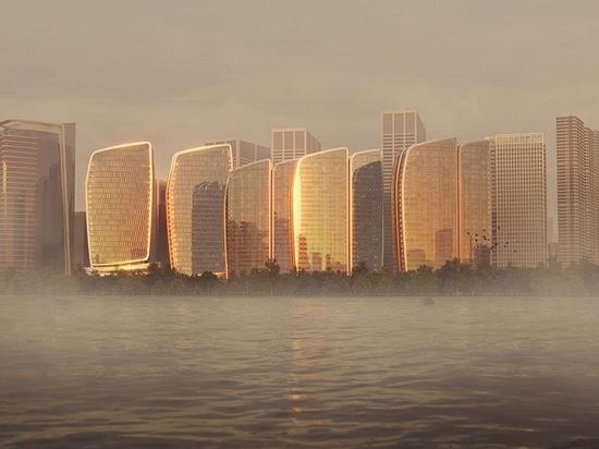 """Aedas présente son projet phare """"Guanyun Qiantang city"""" au cœur de Hangzhou"""
