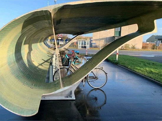 vue latérale du garage à vélos au danemark image courtoisie de chris yelland