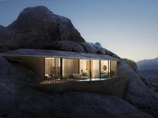 les clients pourront choisir entre des suites hôtelières dans les crevasses et des chambres creusées dans la roche elle-même