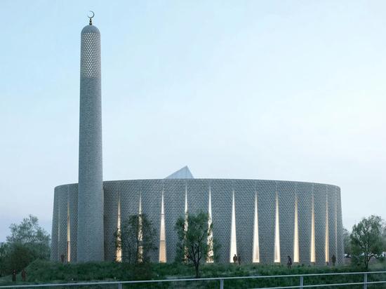 Luca Poian Forms conçoit une mosquée en briques décoratives pour Preston