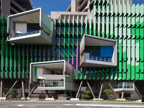 L'hôpital par Lyon et Conrad Gargett comporte une façade vibrante et une disposition arbre-inspirée