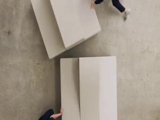 le système d'assise flexible de snøhetta invite les gens à interagir