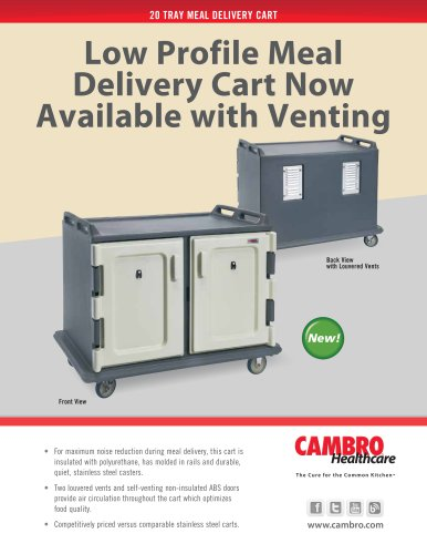 20 TRAY MEAL DELIVERY CART