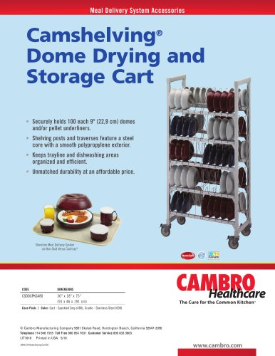 Camshelving® Dome Drying and Storage Cart