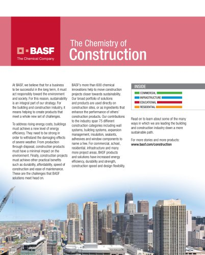 2008 Urban Land Institute insert: BASF Construction Success Stories