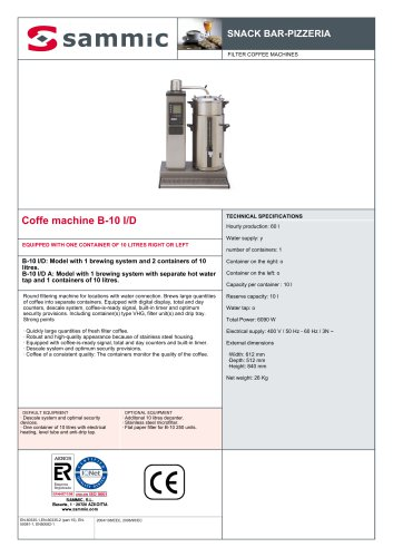 Coffe machine B-10 I/D