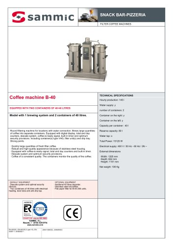 Coffee machine B-40