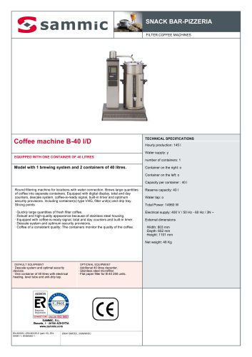 Coffee machine B-40 I/D