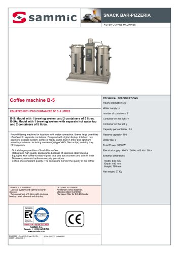 Coffee machine B-5