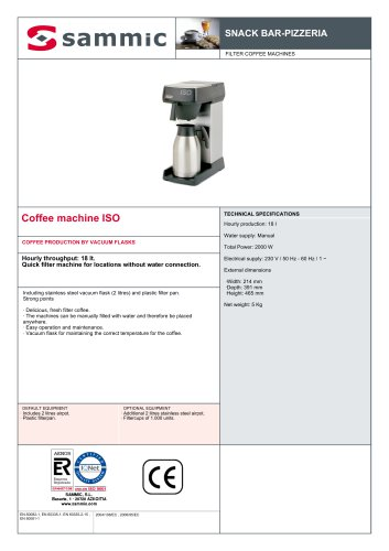 Coffee machine ISO