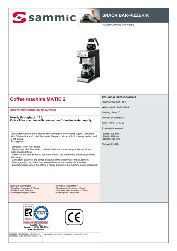 Coffee machine MATIC 2