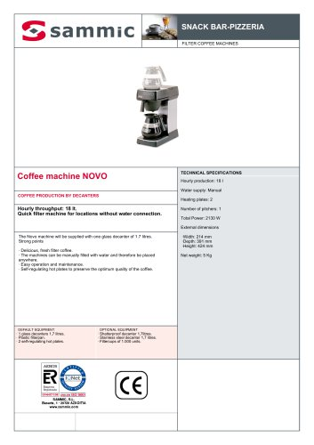 Coffee machine NOVO