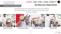 Combi Coupe-légumes + cutter - 10