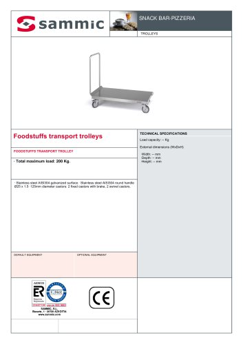 Foodstuffs transport trolleys