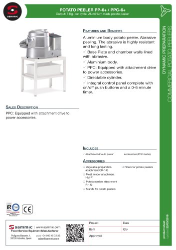 POTATO PEELER PP-6+ / PPC-6+