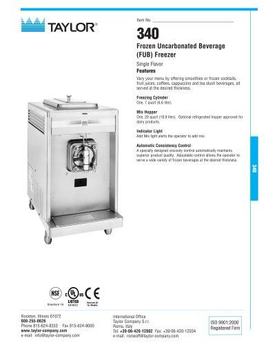 340 Frozen Uncarbonated Beverage (FUB) Freezer