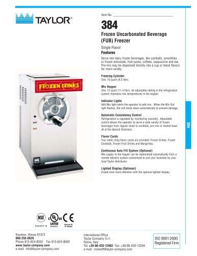 384 Frozen Uncarbonated Beverage